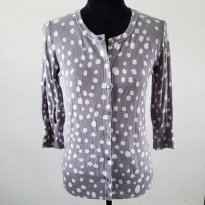 3/$20 Merona Gray/White Polka-Dot Cardigan